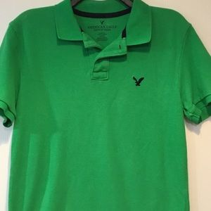 American Eagle Green Polo Shirt Size Mens's Small